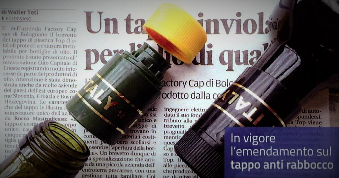 dichiarazione tappo inviolabile news olio golini